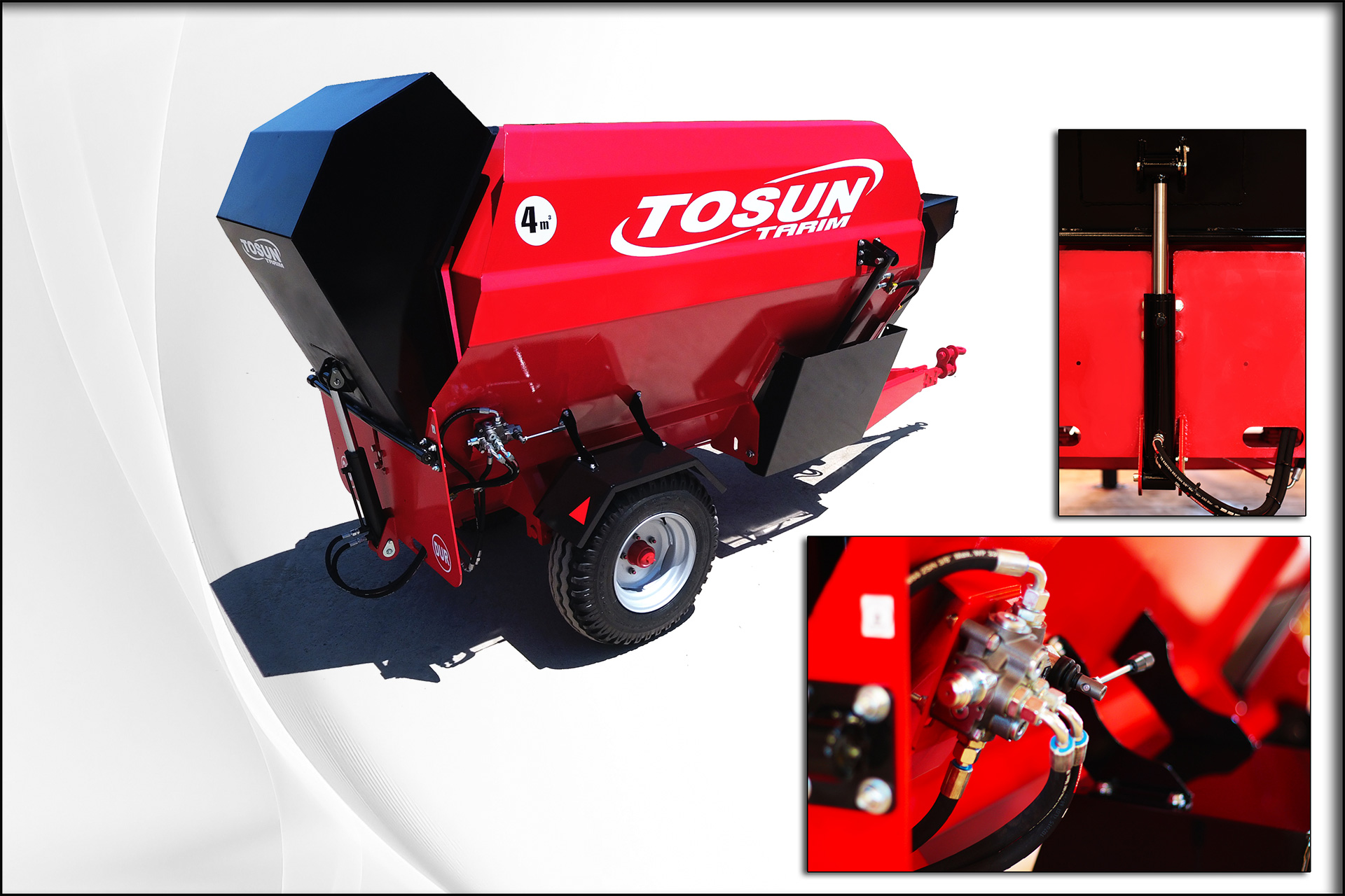 Single Auger Horizantal Feed Mixer 4 m3 - Tosun Farm Machines Izmir